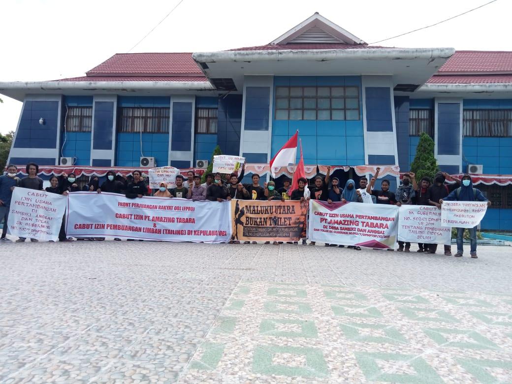 Cabut Izin Pembuangan Tailing di Kepulauan Obi dan Cabut Izin Usaha Pertambangan PT AMAZING Tabara di Desa Anggai-sambiki